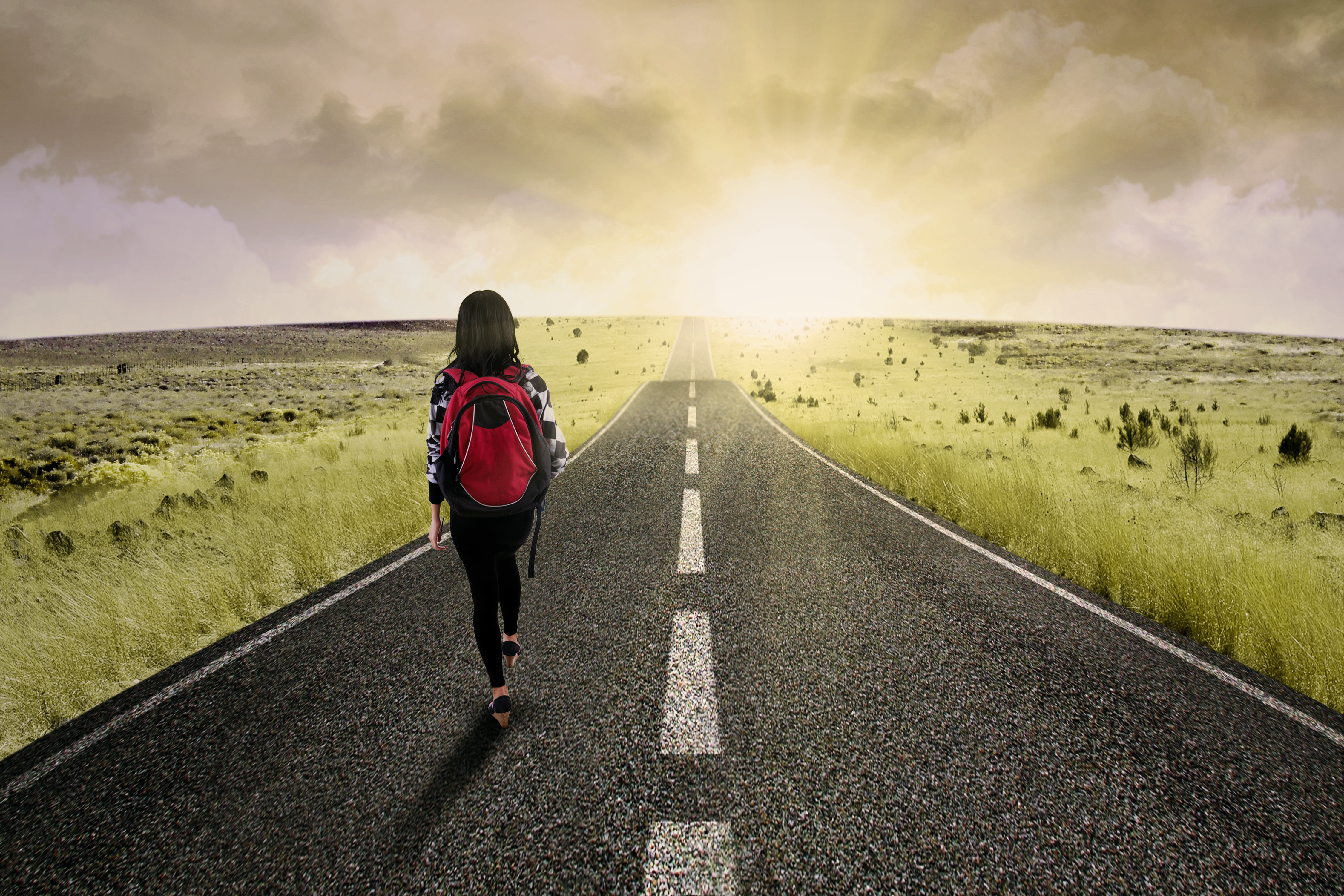 how to get into college peterson s blog get into college · female college student walk on the road to start her journey and gain bright future